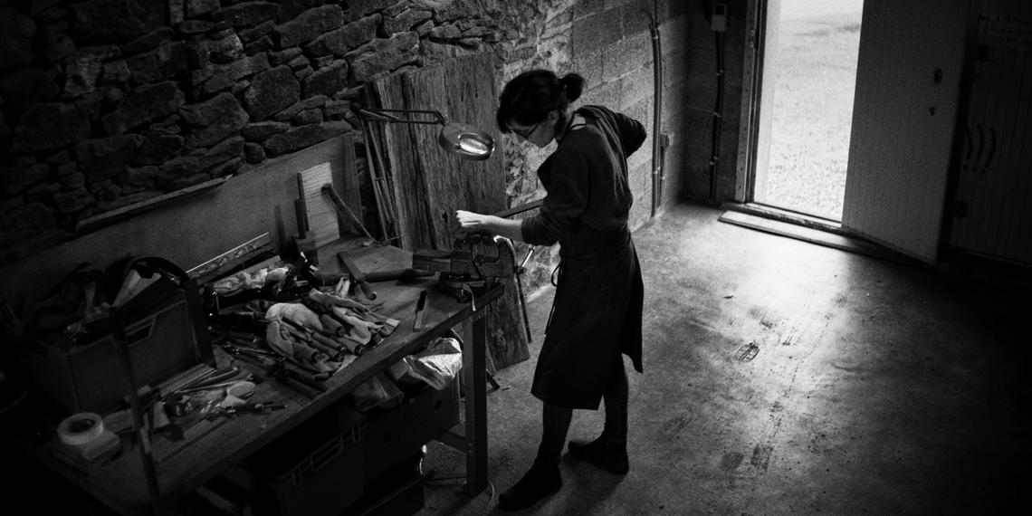 Annie Bocel, ancienne Elève de Maître d'art © Edouard Elias