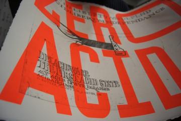 Zéro Acid 1, Métiers d'art et procédés d'impression