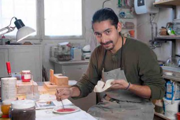 Sigfrido Rivera - Atelier Erhard Stiefel Créateur de masques © Alexis Lecomte INMA